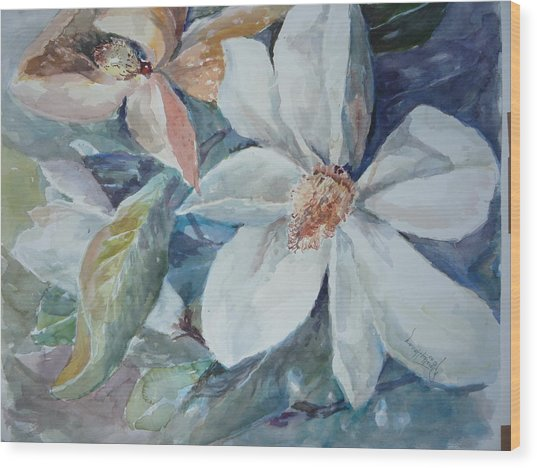 Magnolia Magic Wood Print by Dorothy Herron
