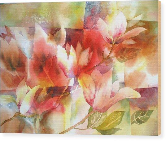 Magnolia Magic Wood Print