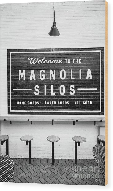 Magnolia Silos Baking Co. Wood Print