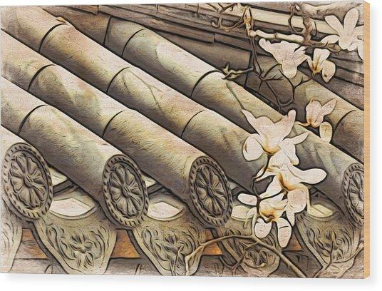 Magnolia Tiles Wood Print