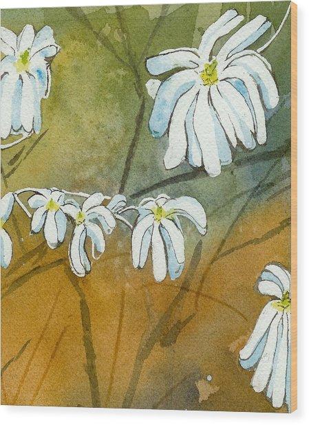 Magnolias 1 Of 3 Wood Print