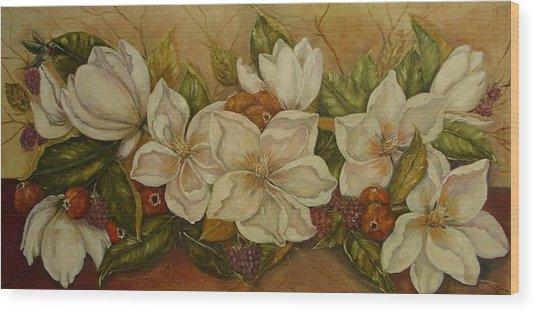 Magnolias Wood Print by Tresa Crain
