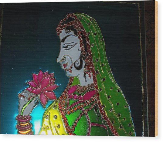 Maharani Wood Print by Sarika Hemane
