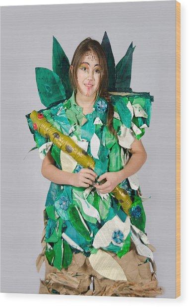 Mahko In The Jungle Book Wood Print