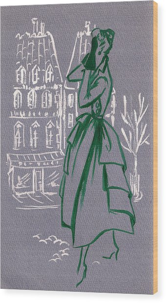 Mai En Paris 6 Wood Print