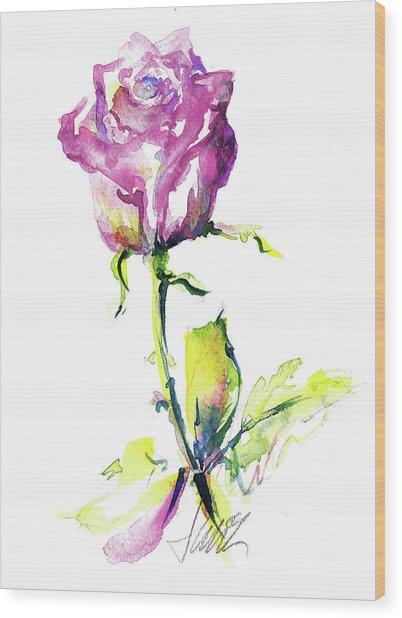 Maiden Rose Wood Print