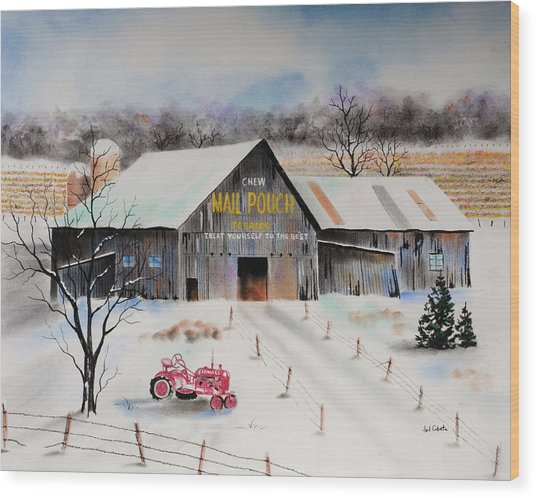 Mail Pouch Barn Centre County Pa Pastel By Paul Cubeta