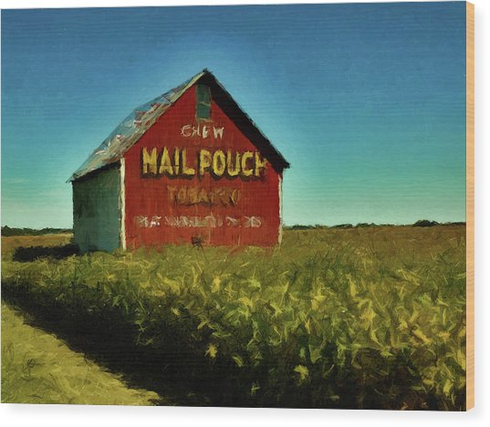 Mail Pouch Barn P D P Wood Print