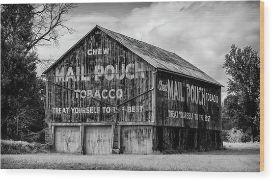 Mail Pouch Barn - Us 30 #1 Wood Print