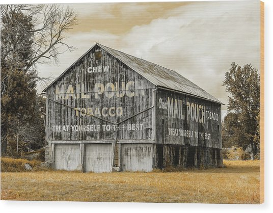 Mail Pouch Barn - Us 30 #3 Wood Print