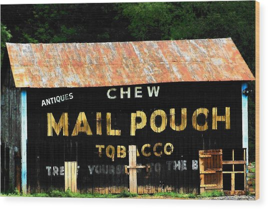 Mail Pouch Wood Print by Michael L Kimble