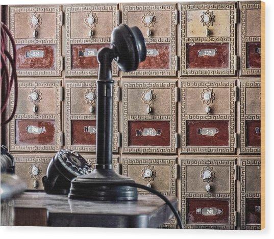 Mailbox 237 Wood Print