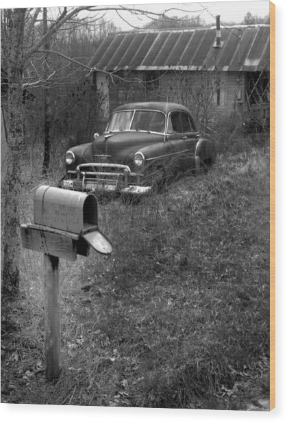 Mailboxcar Wood Print