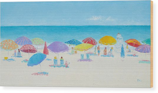 Main Beach East Hampton  Wood Print