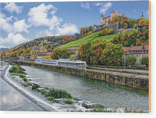 Main River Panorama Wood Print