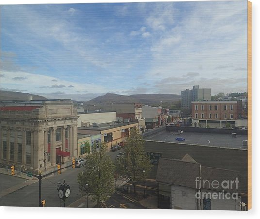 Main St To The Mountains   Wood Print