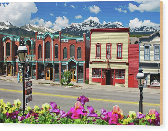 Main Street - Breckenridge Colorado Wood Print