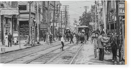 Main Street, Poughkeepsie, 1906 Wood Print by The Hudson Valley