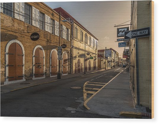 Main Street Sunday Wood Print