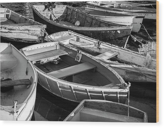 Maine Boats Wood Print