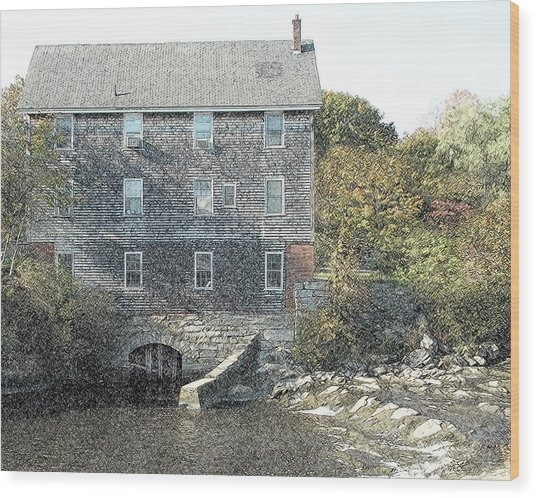 Maine Mill Wood Print