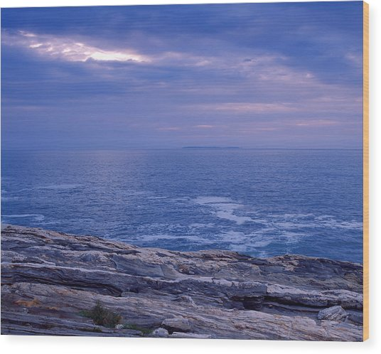Maine Seascape Wood Print