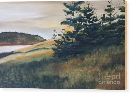 Maine Sunrise Wood Print