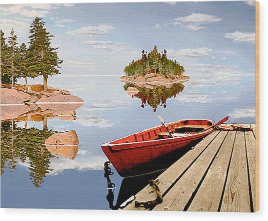 Maine-tage Wood Print