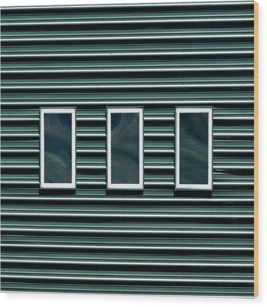 Maine Windows 2 Wood Print