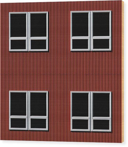 Maine Windows 3 Wood Print