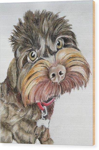 Maisie Moo Wood Print