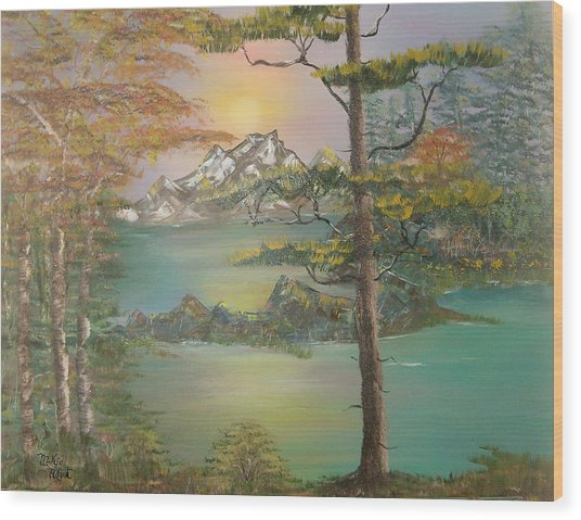 Majestic Cove Wood Print by Mikki Alhart