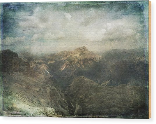 Majestic Dolomites Wood Print