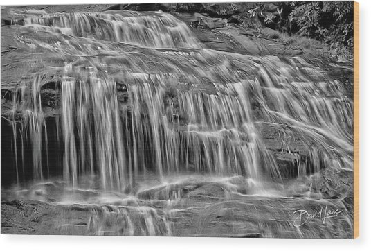 Wood Print featuring the photograph Majestic Falls In Motion by David A Lane