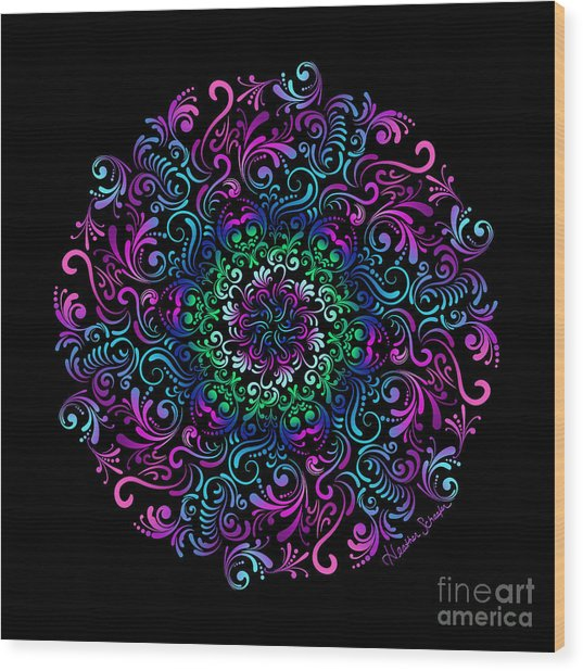 Majestic Kaleidoscope Wood Print