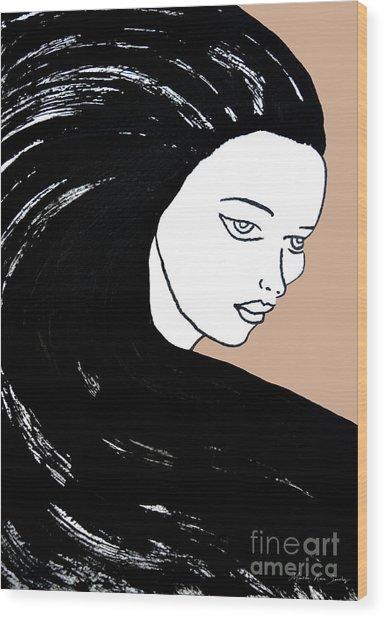 Majestic Lady J0715b Wood Print