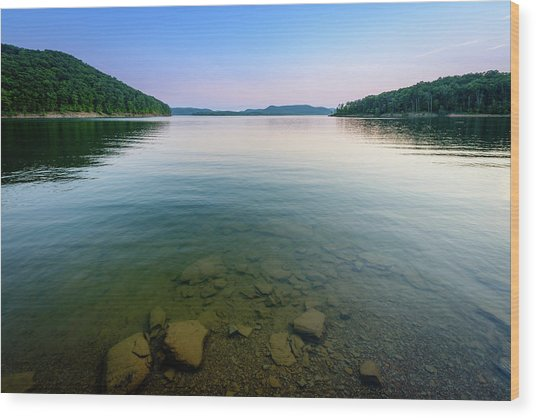 Majestic Lake Wood Print