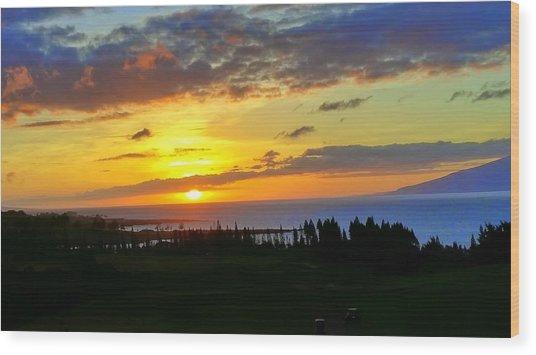 Majestic Maui Sunset Wood Print
