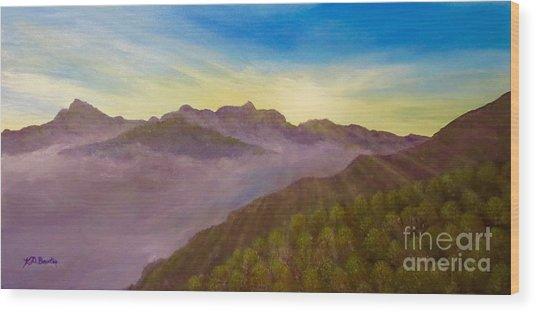 Majestic Morning Sunrise Wood Print