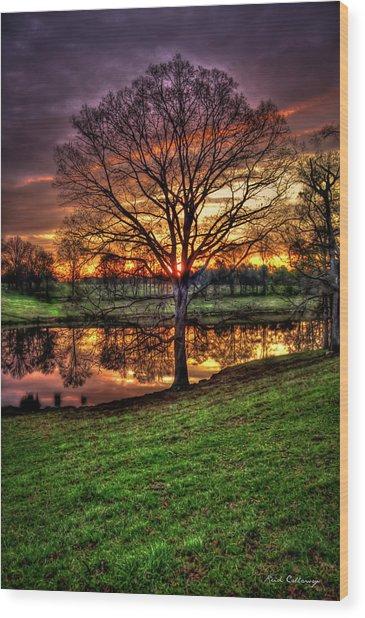 Majestic Sunrise Reflections Art Wood Print