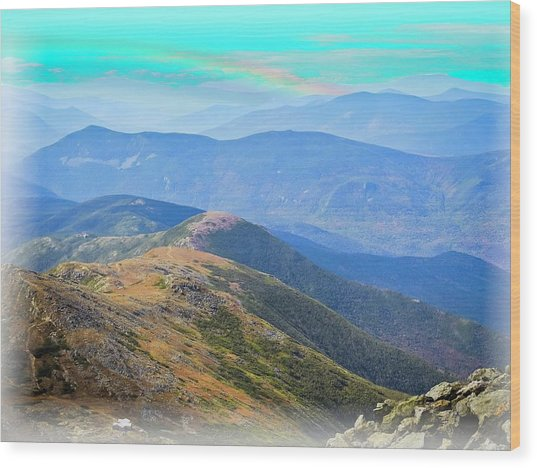 Majestic White Mountains Wood Print