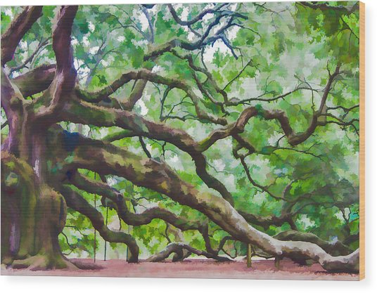 Majesty - The Angel Oak Wood Print