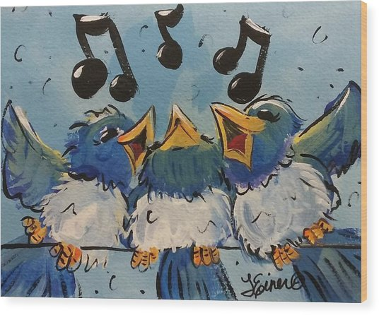 Make A Joyful Noise Wood Print