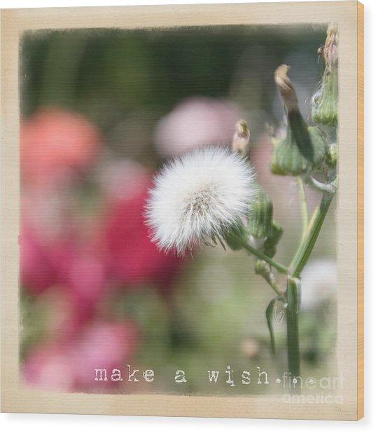 Make A Wish... Wood Print