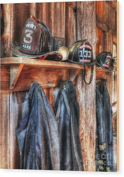 Maker's Mark Firehouse Wood Print