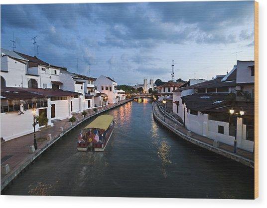 Malacca River Wood Print