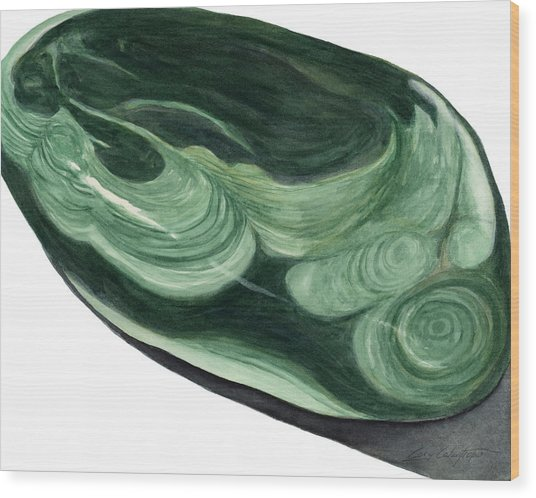 Malachite1 Wood Print