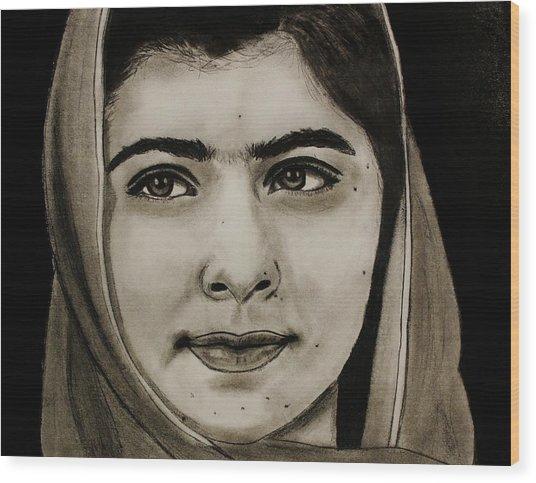 Malala Yousafzai- Teen Hero Wood Print