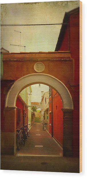 Malamocco Arch No1 Wood Print
