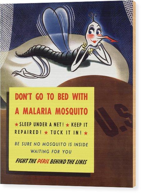 Malaria Mosquito Wood Print